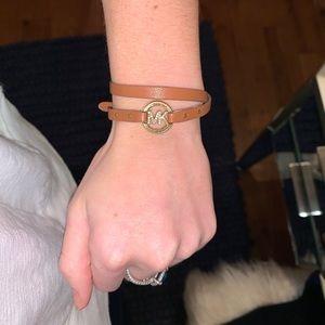 Michael Kors leather wrap bracelet